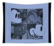 Mickey In Cyan Tapestry