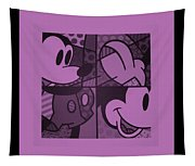 Mickey In Light Pink Tapestry
