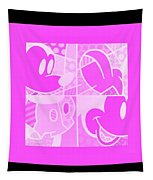 Mickey In Negative Pink Tapestry