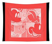 Mickey In Negative Red Tapestry