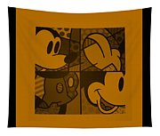Mickey In Orange Tapestry