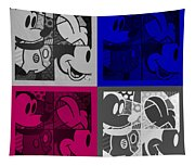 Mickey In Quad Colors Tapestry