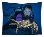 Mike And The Crab Tapestry