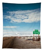 Milepost At The Dempster Highway Tapestry