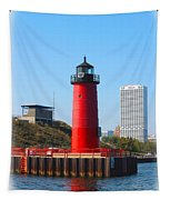 Milwaukee Harbor Lighthouse Tapestry