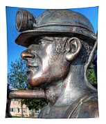 Miner Statue Tapestry