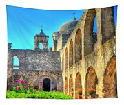 Mission Courtyard Tapestry