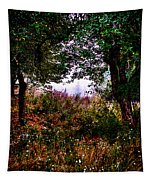 Mist Beyond The Apple Trees Tapestry