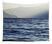 Misty Alpine Lake With Mountains Tapestry