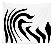 Modern Zebra  Tapestry