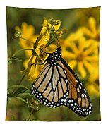 Monarch Butterfly On Tickseed Sunflower Din146 Tapestry
