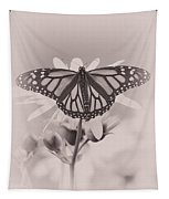 Monarch On Sunflower Tapestry