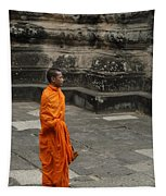 Monk At Ankor Wat Tapestry
