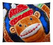 Monkey Sock Around Tapestry