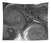 Mono Swirl Abstract Tapestry