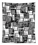 Monochrome Squares Tapestry