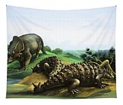 Monoclonius And Scolosaurus Tapestry