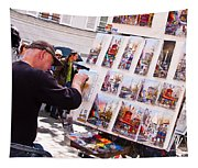 Montmartre Street Artists Tapestry