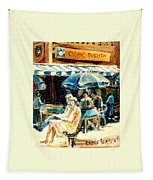 Montreal Cafe City Scenes Prince Arthur And Duluth Street Tapestry