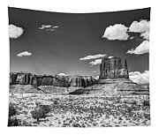 Monument Valley In Monochrome  Tapestry