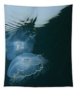 Moon Jelly Ripples Tapestry
