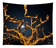 Moon Light And Tree Tapestry