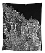 Moonlit Cliffs Tapestry