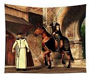 Mordechai And Haman Tapestry