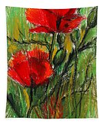 Morning Poppies Tapestry