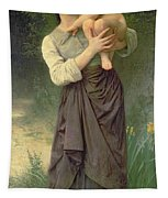 Mother And Child Tapestry by William Adolphe Bouguereau
