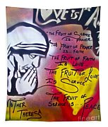 Mother Theresa Fruits Tapestry