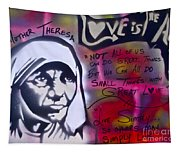 Mother Theresa Living Simply Tapestry