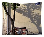 Motorcycle And Tree. Belgrade. Serbia Tapestry