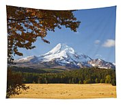 Mount Hood And Autumn Colours In Hood Tapestry