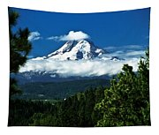Mount Hood Framed By Trees, Oregon, Usa Tapestry