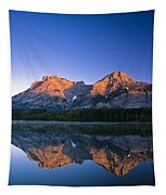 Mount Kidd Reflected In Wedge Pond Tapestry