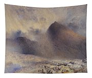 Mount Snowdon Through Clearing Clouds Tapestry