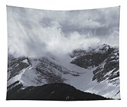 Mountain Panoramic In Winter, Spray Tapestry