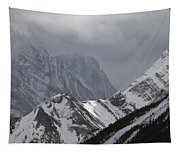 Mountain Peaks In Clouds, Spray Lakes Tapestry