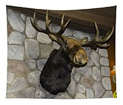 Mounted Moose Tapestry