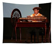 Musician And Glass Armonica Tapestry