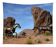 Mustangs On The Run Tapestry