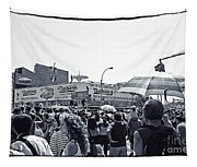 Nathan's Crowd In Coney Island 1 Tapestry
