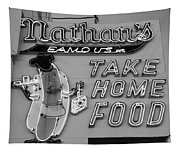 Nathan's Famous In Black And White Tapestry