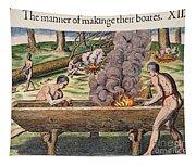 Native Americans: Canoe, 1590 Tapestry