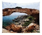 Natural Bridge - Cape Gkreko - Cyprus Tapestry