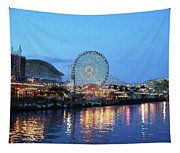 Navy Pier Chicago Digital Art Tapestry