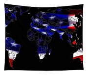 New World Map Tapestry