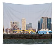 New York And The Barge Tapestry