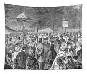 New York: Bandstand, 1869 Tapestry